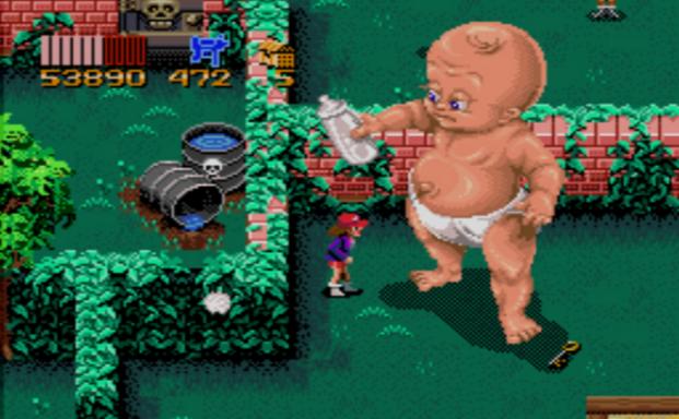 Един от враговете, срещу които се изправяте е гигантско обладано от дявола бебе.