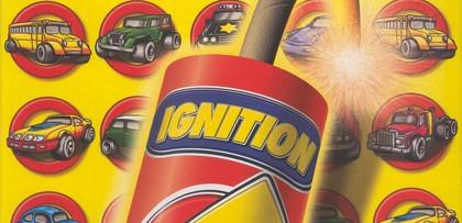 Оригиналната кутия, с която е идвал диска. Изобразен е запален динамит и логото: светкавица, олицетворяващо турбото (оттам Ignition).