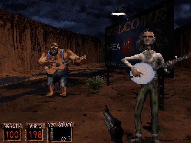 В Redneck Rampage повечето герои са жители на дълбоката американска провинция.