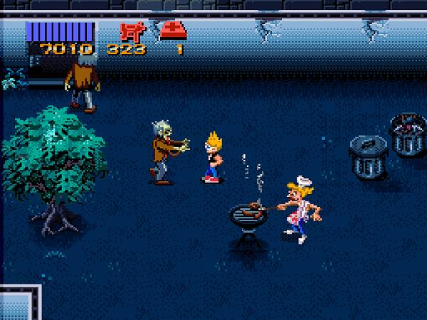 Един от съседите, които трябва да спасите, си прави барбекю по средата на зомби нашествие.