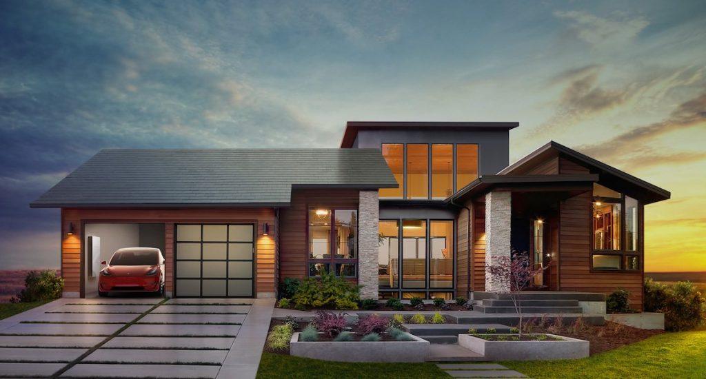 Цялостен соларен покрив. Изображение: Tesla.