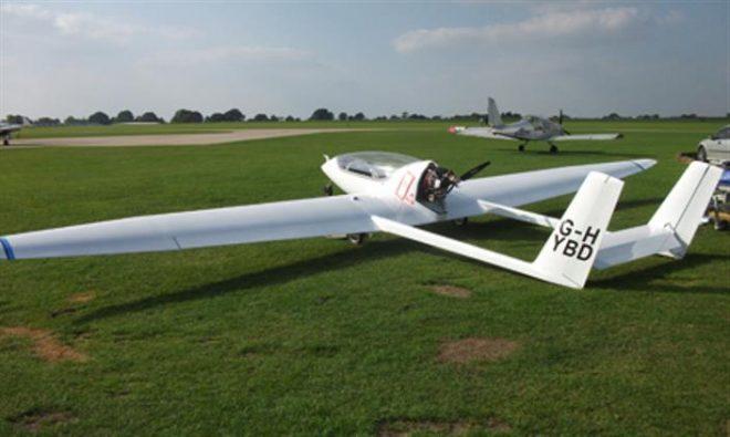Снимка на електрически самолет