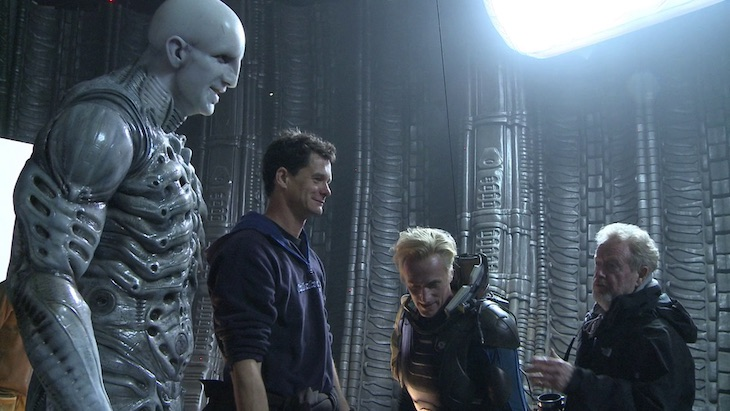 Alien - Ridley Scott on the set of Prometeus
