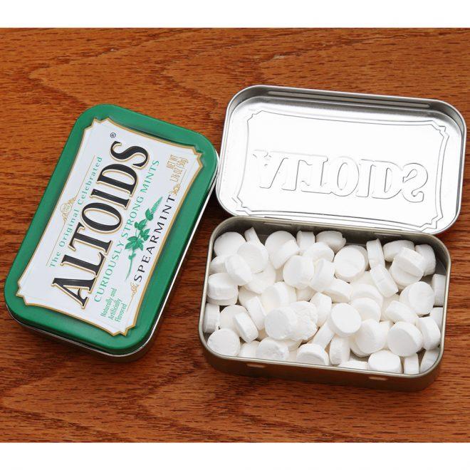 Снимка на бонбони Altoids