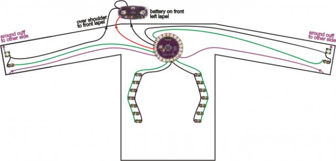 Снимка на Arduino тениска за колоездачи