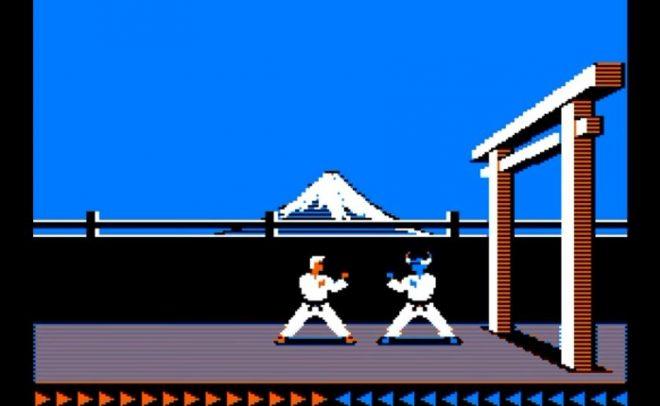 Заснеженият вулкан на заден план се е превърнал в емблематична част от Karateka.