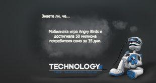 Angry Birds събира 50 милиона потребители