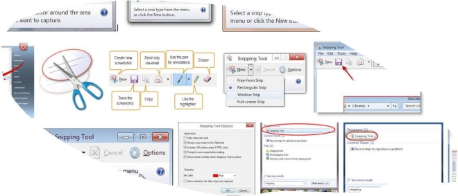 Snipping tool - free form изрязване