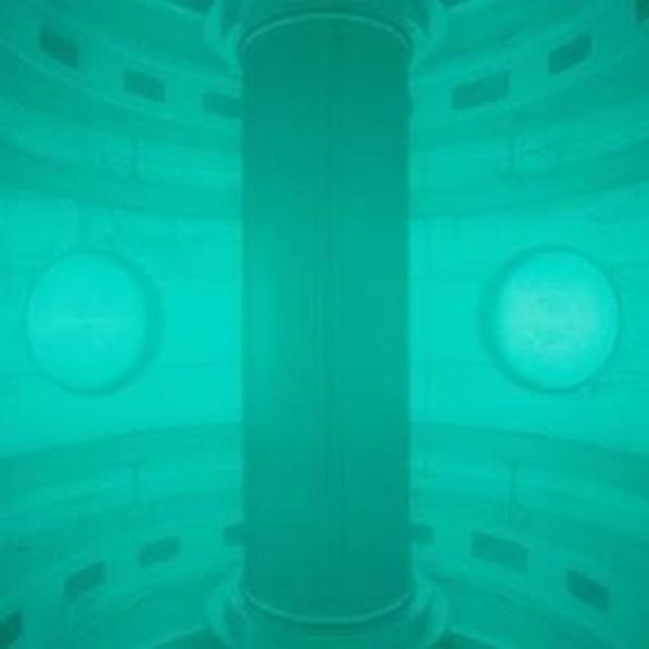 Плазма под ниско налягане в токамака ST40. Снимка: Tokamak Energy.
