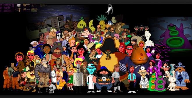 Последната снимка на героите на LucasArts, малко преди Джордж Лукас да продаде душата си на дявола.