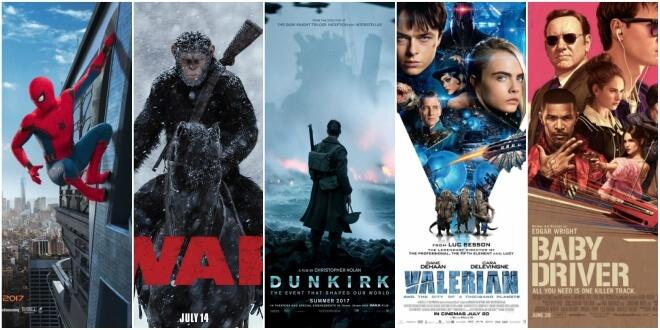 16 филмови премиери през юли 2017
