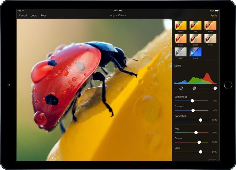 Снимка на iPad Pro апликацията