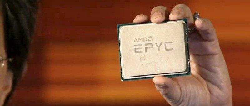 снимка на AMD Epyc