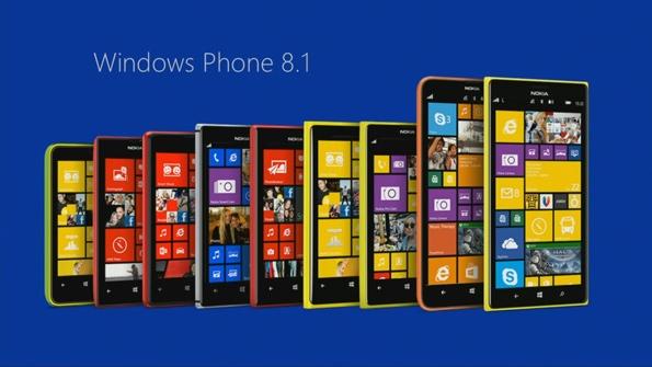 Снимка на телефони с Windows Phone 8.1.