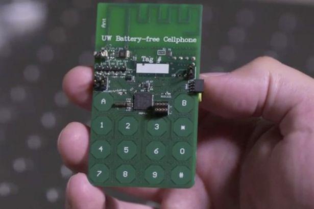 Снимка на Мобилен телефон без батерия.