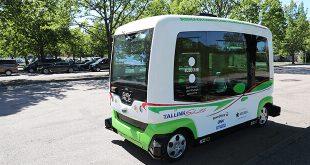 Автобус без шофьор по улиците на Талин, Естония