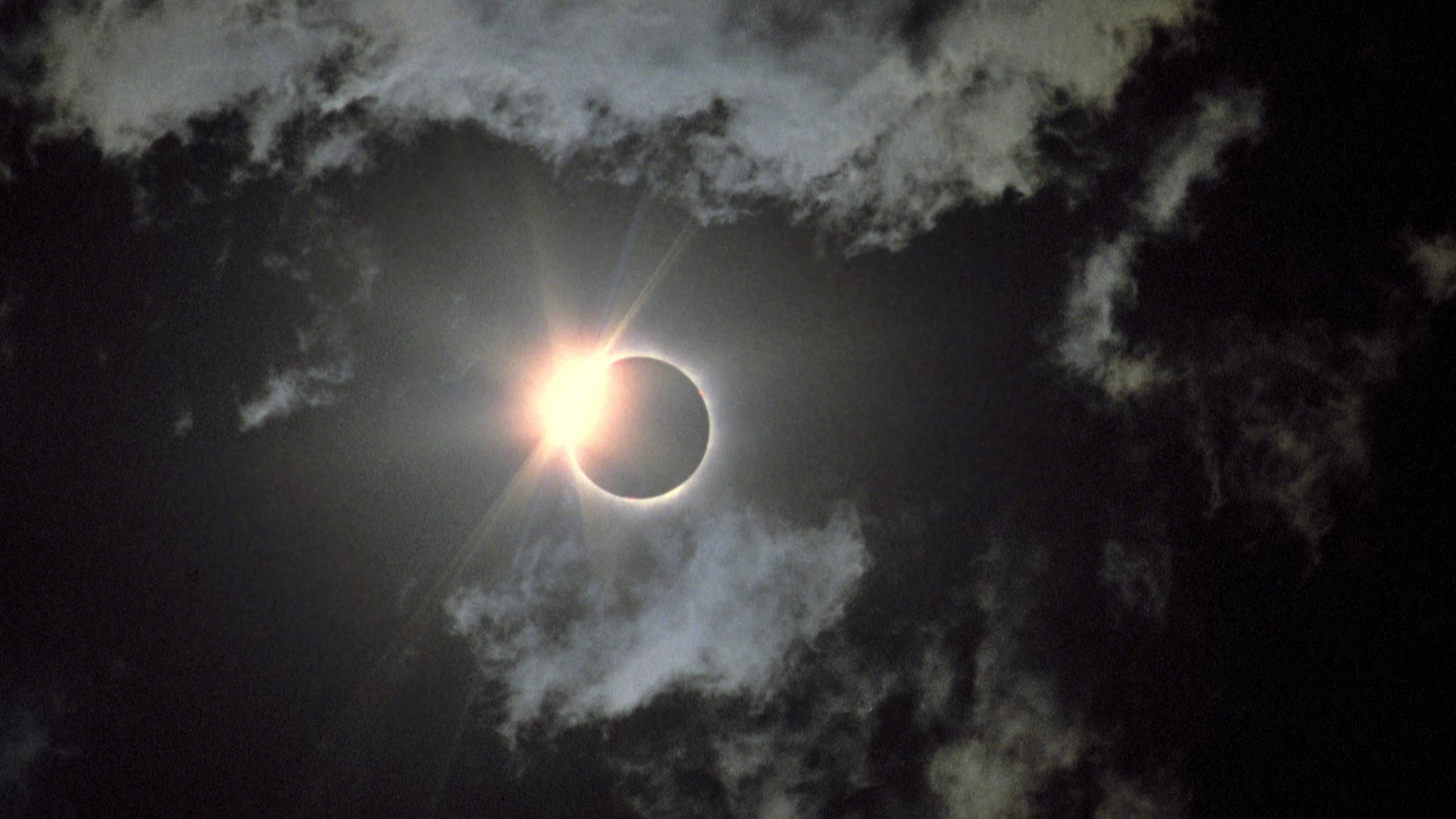 Снимка на пълно слънчево затъмнение