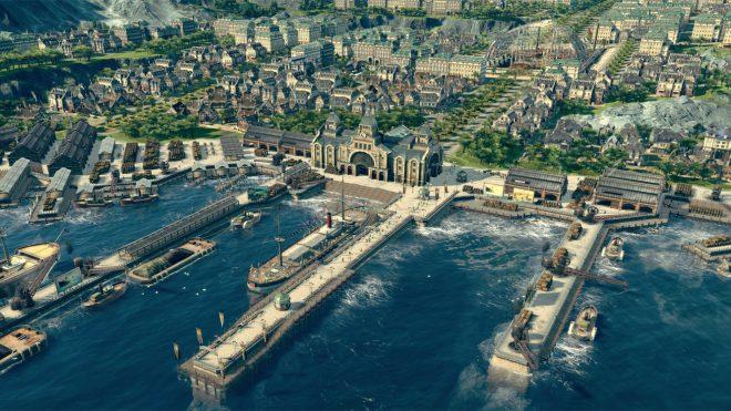 Гледка към градското пристанище