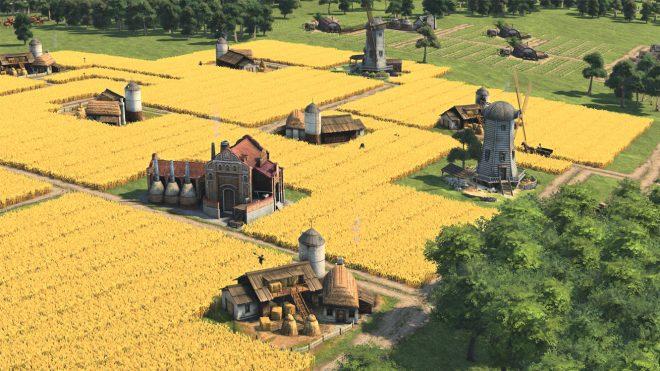 Гледка към крайградските ферми