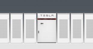 """Заглавна картинка на статията """"Огромната батерия Tesla Powerpacks е завършена и готова за тестове"""""""