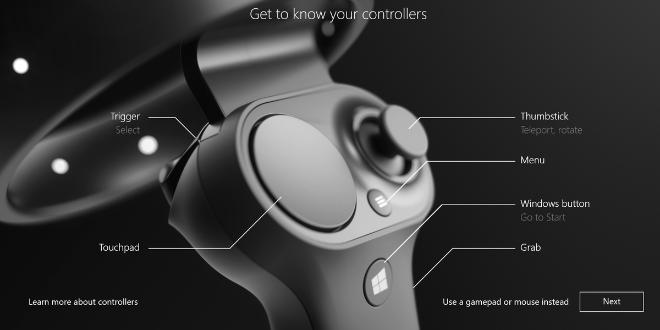 картина с пояснение на всички бутони от контролера за ръка