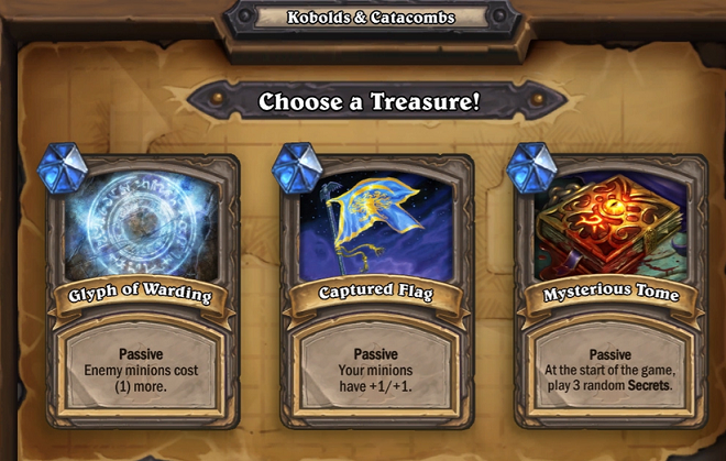 Hearthstone, Kobolds & Catacombs, Treasures