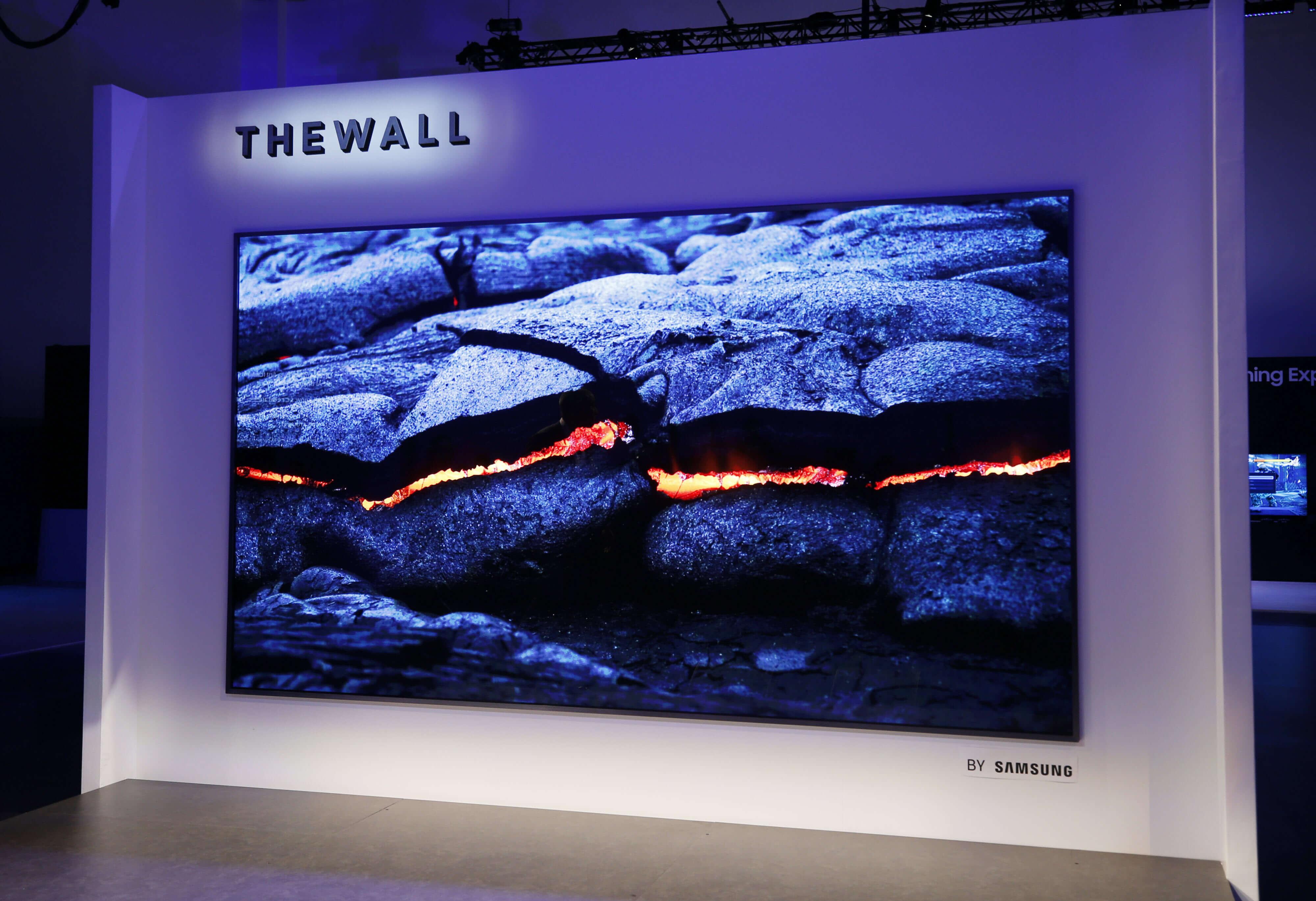 146 инчов micro led телевизор представен на ces 2018 от самсунг
