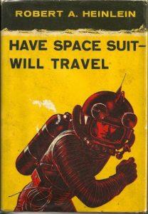 """""""Имам скафандър - готов съм за пътешествие"""" - юношески роман от Р. Хайнлайн, издаден през 1958г. Неиздаван на български, но може да бъде прочетен на руски."""