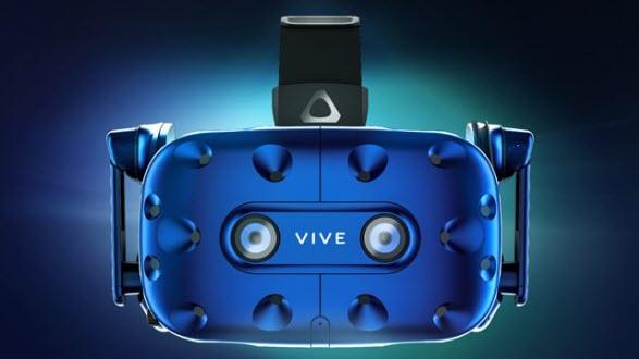 снимка на предната част с двете камери на HTC Vive Pro