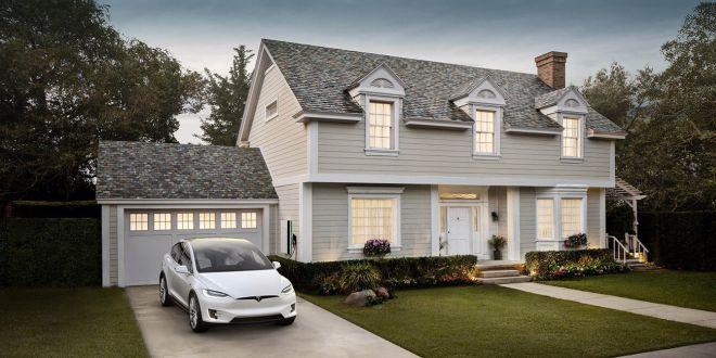 Tesla пуска на американския пазар слънчеви панели и батерии
