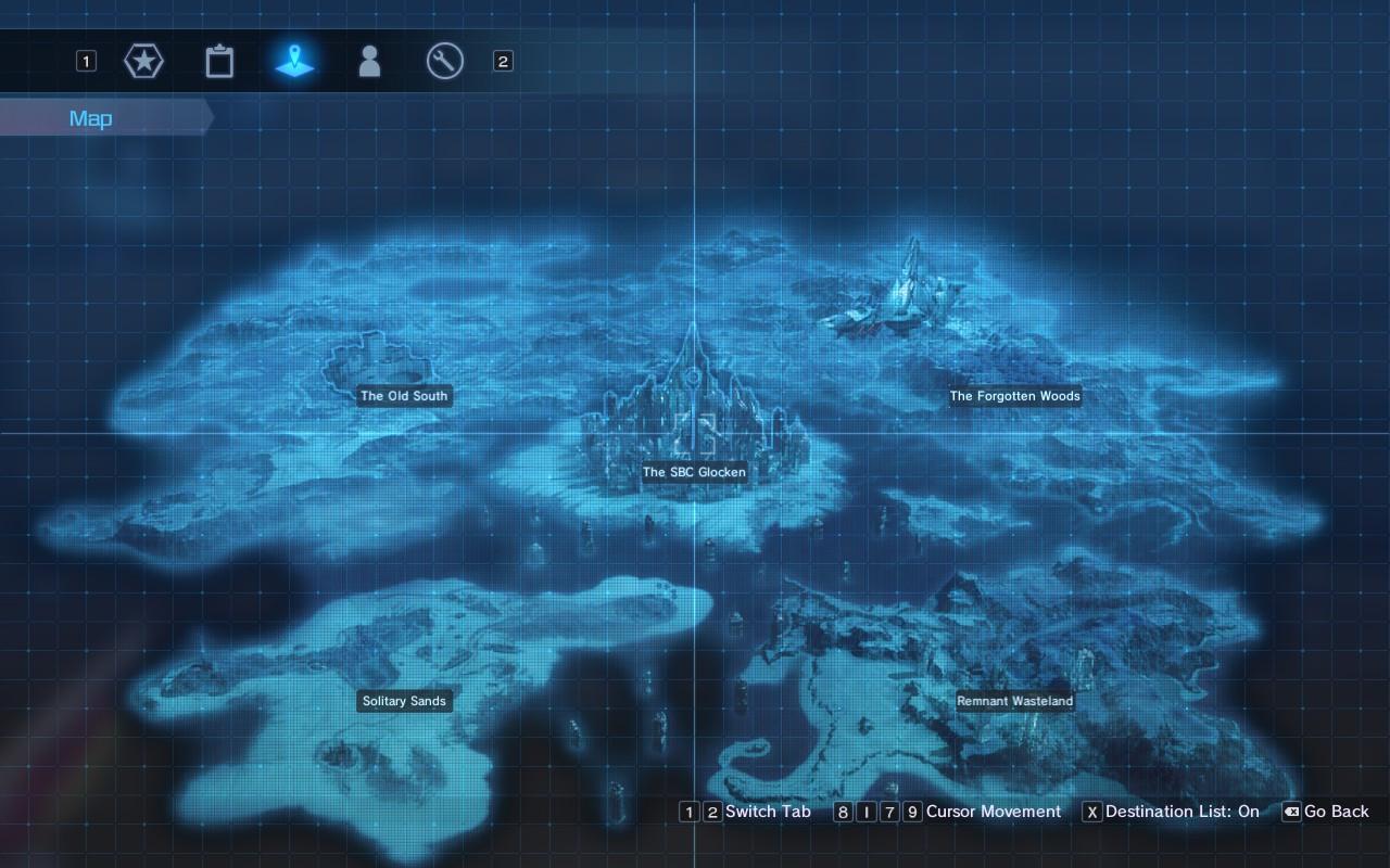 Sword Art Online: Fatal Bullet - world map
