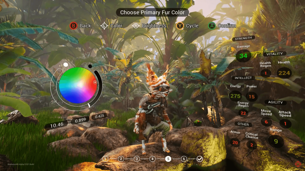 Biomutant Character Creation
