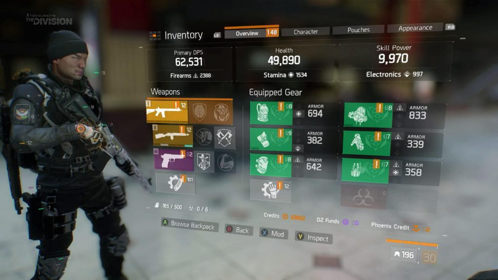 The Division Items