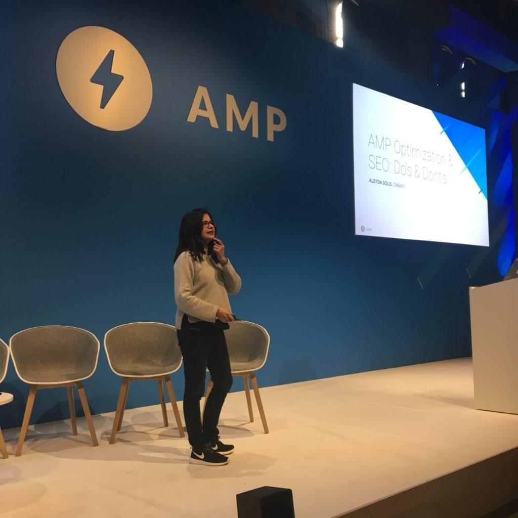 Алейда Солис AMP Conf 2018