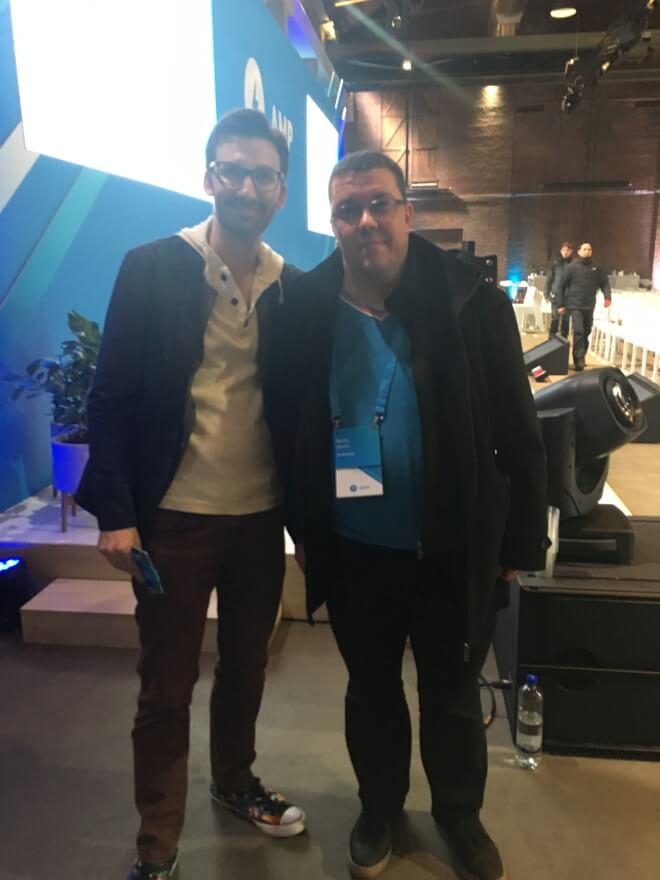 Ники Кръстев и Пол Бакаус на AMP Conf 2018