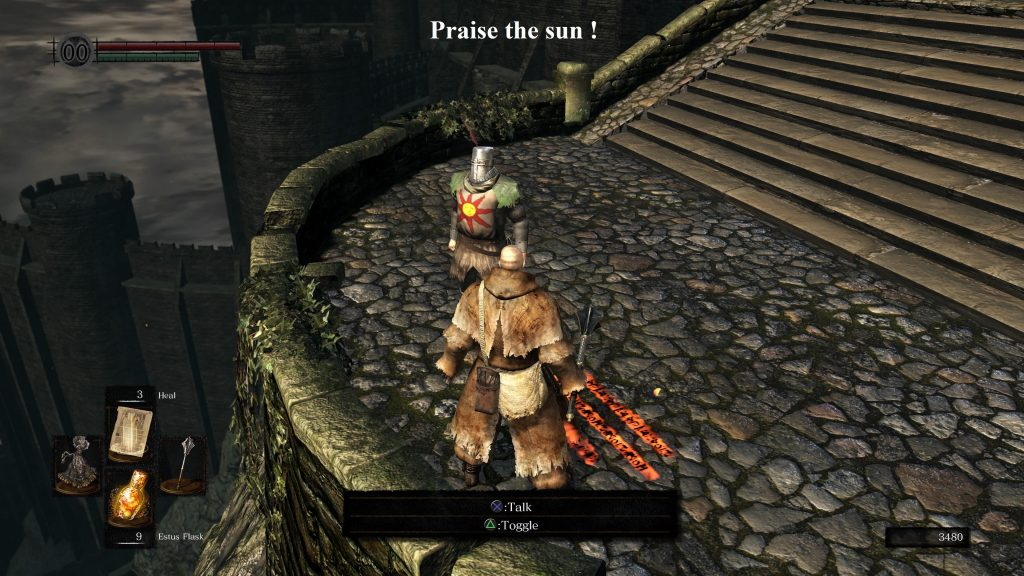 Dark Souls, Praise the sun