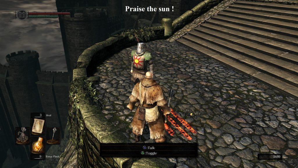 Dark Souls, Praise the sun