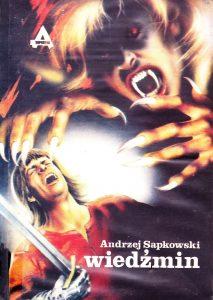 """Първото издание на """"Вещерът"""" на полски, изд. """"Репортер"""", 1990 г."""
