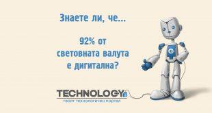 92% от световната валута е дигитална