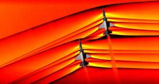 НАСА засне сливащи се ударни вълни по време на свръхзвуков полет