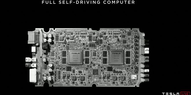 Компютърът на Тесла за роботаксита