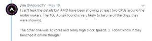 Jim от AdoredTV загатва за 12-ядрен процесор Ryzen 3000 с много високи честоти.