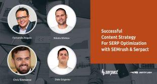 Semrush & Serpact meetup (оптимизация на съдържание за SERP) се задава на 10 май