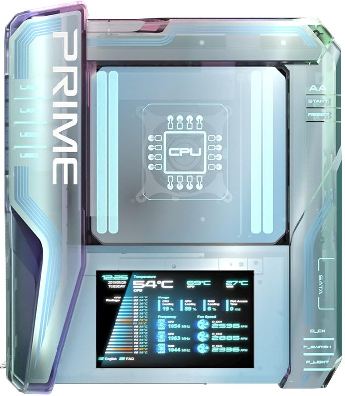 Фронтален изглед на Asus Utopia Prime. Източник: edgeup.asus.com