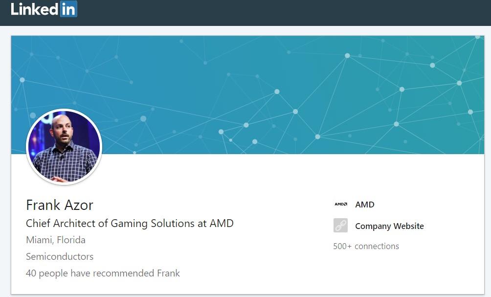 Frank Azor работи за AMD
