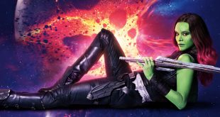чернокожа Зоуи Салдана играе зеленокожата геройня Гамора