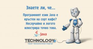 Програмният език Java е кръстен на сорт кафе