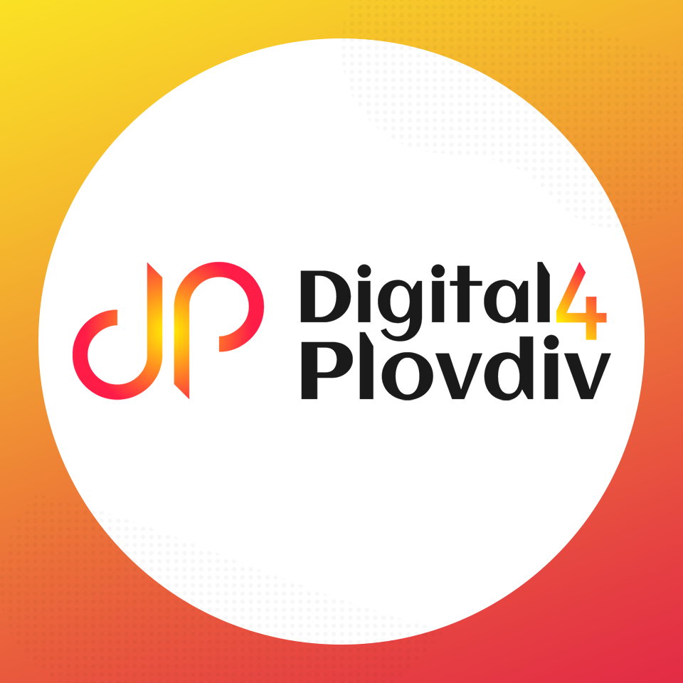 Digital4Plovdiv logo в кръг