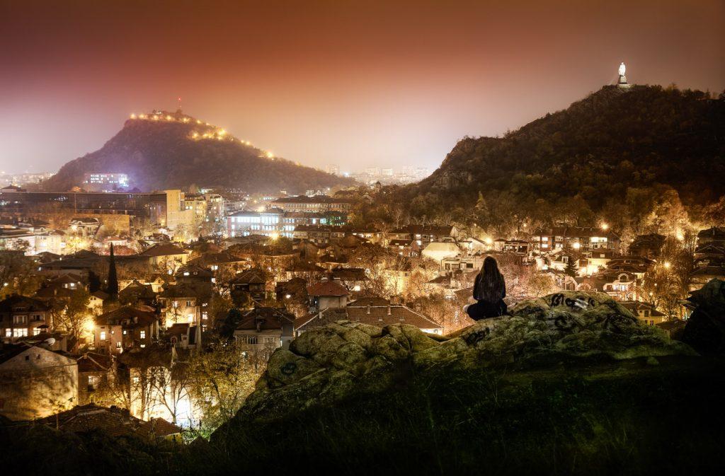 Пловдив през вечерта