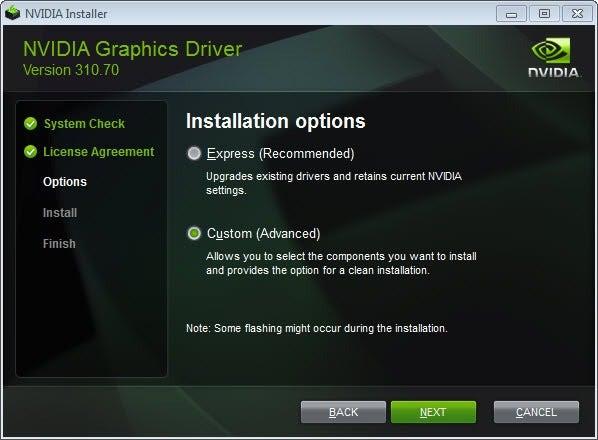 Инсталатора за NVIDIA драйвери.
